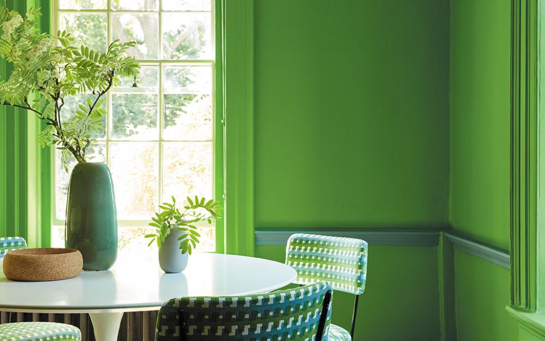 GREEN, de Little Greene : une nouvelle palette rafraîchissante de couleurs authentiques de peintures de National Trust